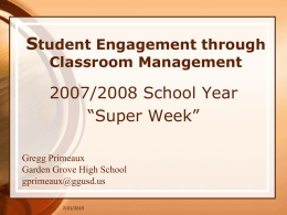 Classroom Management - Mr. Primeaux's Website