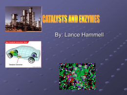 CATALYSTS AND THEIR APPLICATION IN TRANSPORTATION