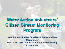 Volunteer Water Quality Monitoring in southeastern Wisconsin