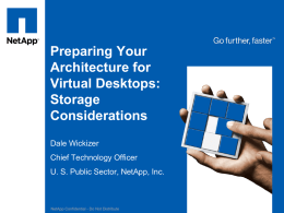 Storage Architecture Considerations for Desktop Virtualization