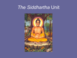 The Siddhartha Unit - Kent School District