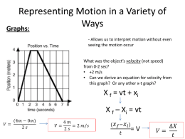 Representing Motion in a Variety of Ways