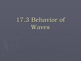 17.3 Behavior of Waves - Eastern Local School District