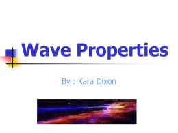 Wave Properties of Light