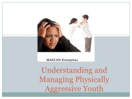 Working with Aggressive Children