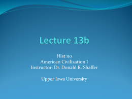 Chapter 1 Notes - Upper Iowa University