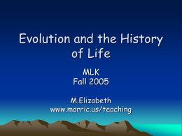 Evolution and the History of Life
