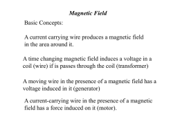 Production of induced force on a wire