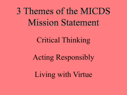 3 Themes of the MICDS Mission Statement
