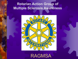 RAGMSA - Rotarian Action Group of Multiple Sclerosis Awareness
