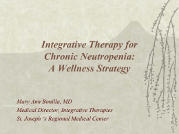 Integrative Therapy Program - National Neutropenia Network