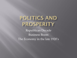 Politics and Prosperity