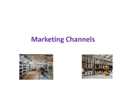 Marketing Channels - @@ Home