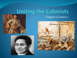 Uniting the Colonists - North Plainfield School District