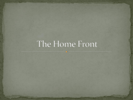 The Home Front - Burlington County Institute of Technology
