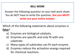 BELL WORK (Buff Binder): Answer the following question on