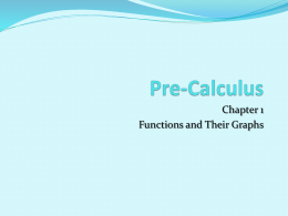 Pre-Calculus Chapter 6