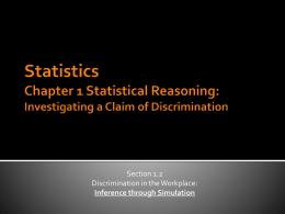 Statistics Chapter 1 Statistical Reasoning: Investigating