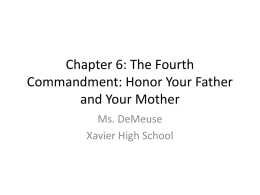 Chapter 6: The Fourth Commandment: Honor Your Father and