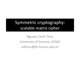Symmetric cryptography: scalable substitution matrix cipher