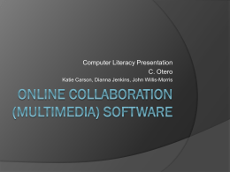 Online Collaboration (Multimedia) Software