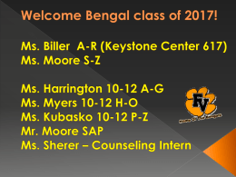 Welcome Bengal class of 2016!
