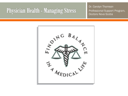 Managing Stress - Nova Scotia Health Authority