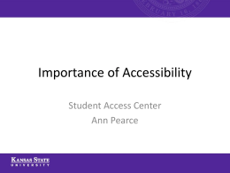 Importance of Accessibility - E