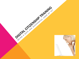 Digital Citizenship training
