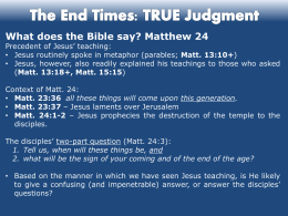 FALSE Teaching & the TRUE Judgment
