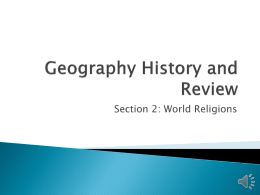 Geography History and Review