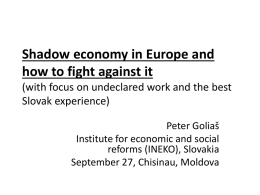 Shadow economy in Europe and how to fight against it (with