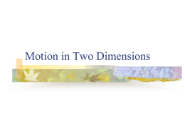 Motion in Two Dimensions - Lompoc Unified School District