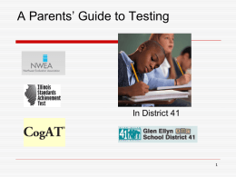Parents' Guide to Testing