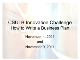 CSULB Innovation Challenge Mentor Meeting