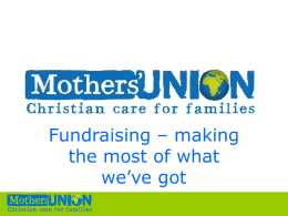 Fundraising - Mothers' Union