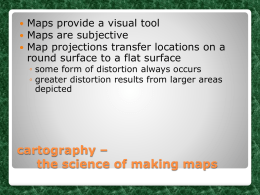 cartography – the science of making maps