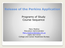 Perkins performance measures - New Mexico Public Education