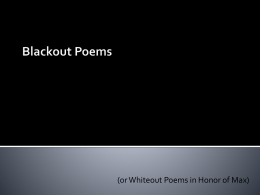 Black Out Poems