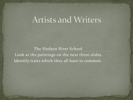 Hudson River School Painters and Writers