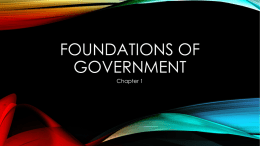 Alegre - Foundations of Government Ch1