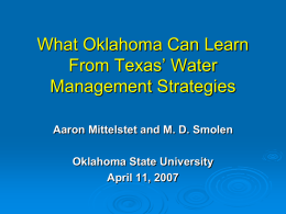 Comparing Water Rights in Arkansas, Oklahoma, Texas and