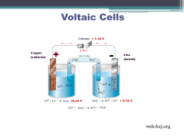 Electrochemical Cells - Salisbury Composite High School