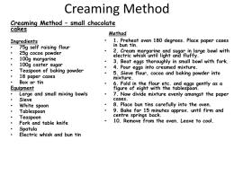 Creaming Method - Redhill Academy