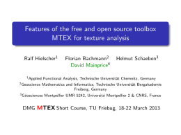 Features of the free and open source toolbox MTEX for texture