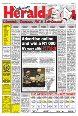 Advertise online and win a R1 000