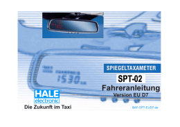 Bedienungsanleitung Fahrer (1.76 MB) - HALE electronic GmbH