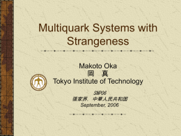 Multiquark Systems with Strangeness