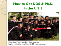 How to Get DDS & Ph.D. in the US