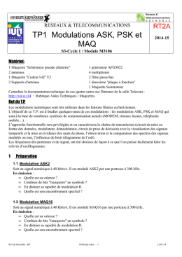 TP1 Modulations ASK, PSK et MAQ